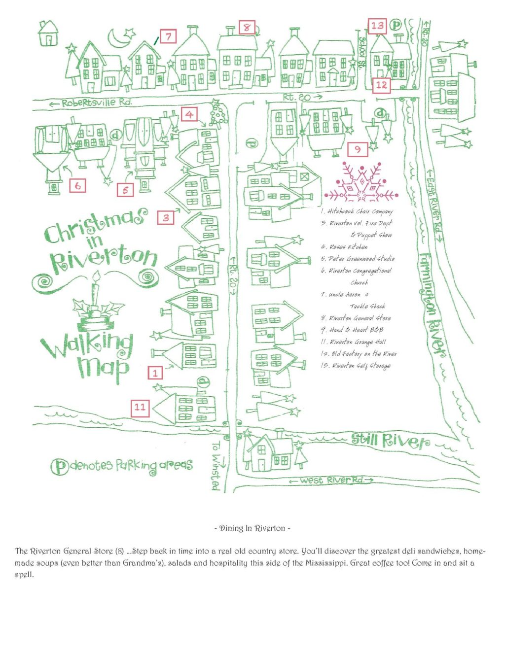 Christmas in Riverton Map